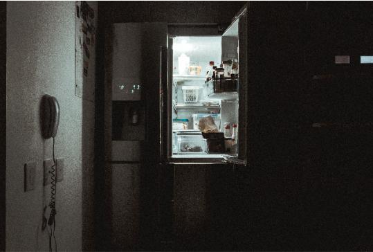 Porte de frigo ouverte